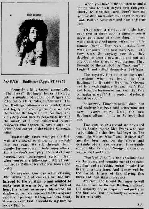 The Spectrum (December 16, 1970)