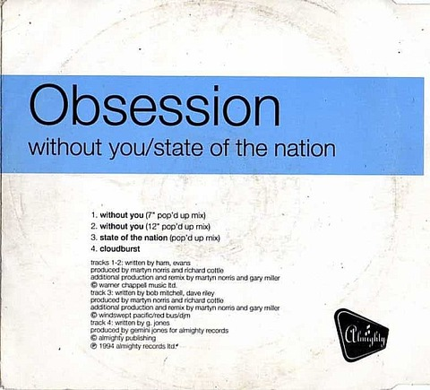 Obsession - CD ALMY 53 back