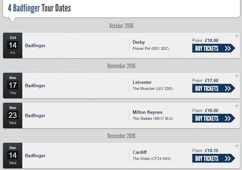 Badfinger 2016 tour 4