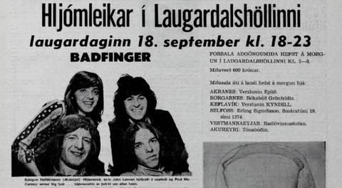 Morgunblaðið Sep 12, 1971 Badfinger