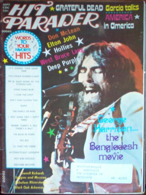 Hit Parader September 1972 cover