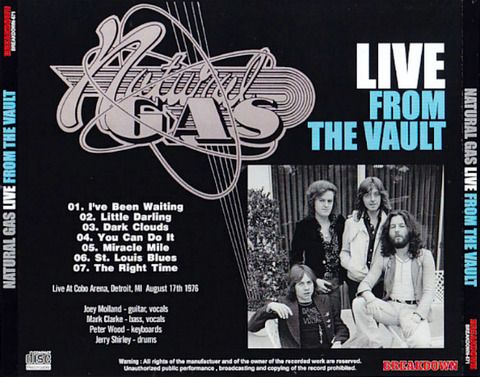 Natural Gas - Live from the Vault back