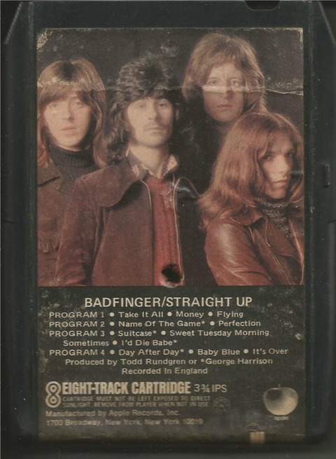 Badfinger - Straight Up 8-Track Apple