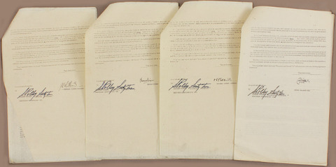 #557 Badfinger Signed Stan Polley Contracts