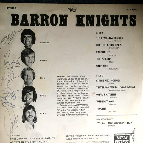 Barron Knights Odds on Favourites b