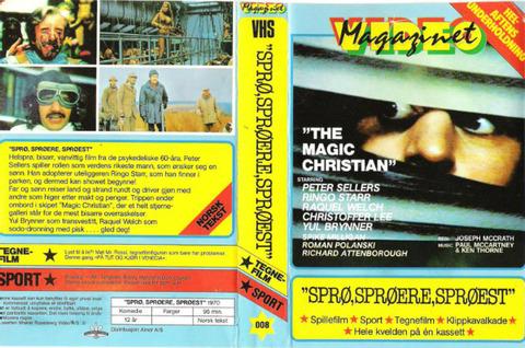 Sprø sprøere sprøest The Magic Christian VHS 95m Norway