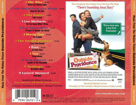 Outside Providence soundtrack back