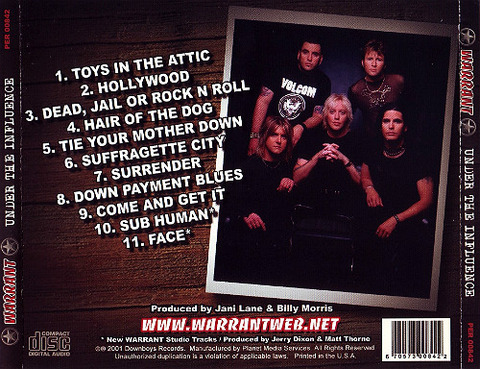 Warrant - Under the Influence back