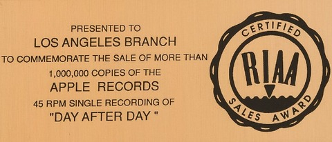 RIAA Presented to Los Angeles Branch