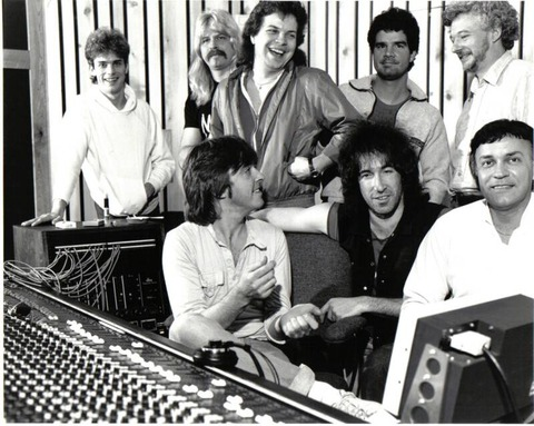 Money at Bison Studios 1983 with Joey Molland