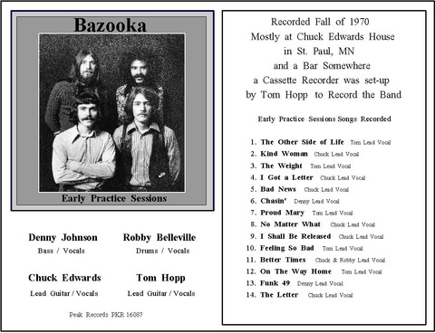 Bazooka - Early Practice Sessions 1970