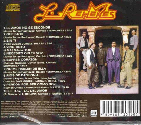 Los Rehenes - El amor no se esconde back