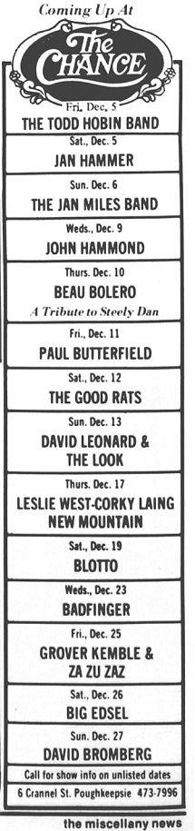 Miscellany News Dec 4, 1981p6 ad