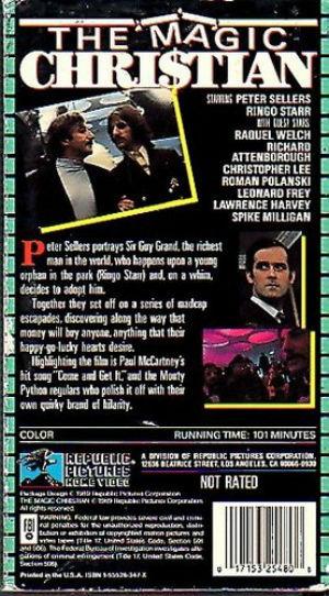 The Magic Christian VHS 101m Republic 1 back