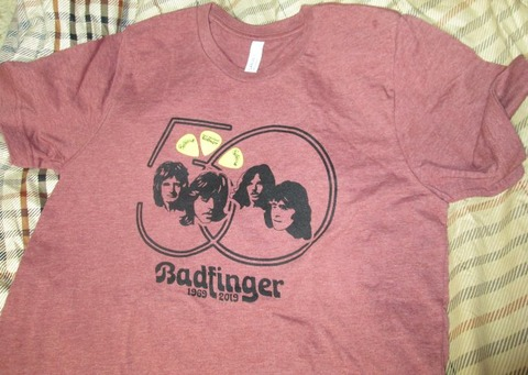 Badfinger 50th Anniversary T-shirt + Joey Molland Guitar Picks