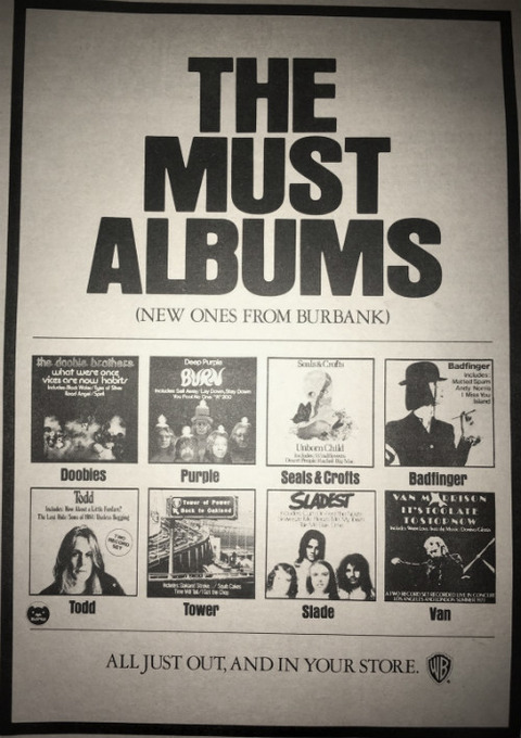 1974 Warner Brothers records album ad pinup poster A