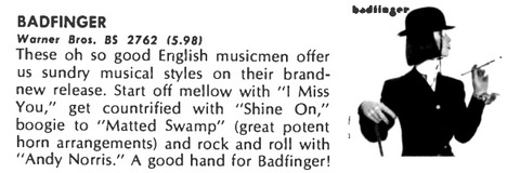Record World March 3, 1974 Badfinger