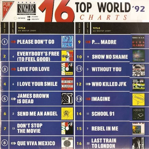 The Midnight Shift -  16 Top World Charts '92