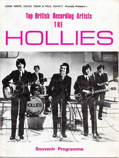 Hollies Australia tour January and February 1971