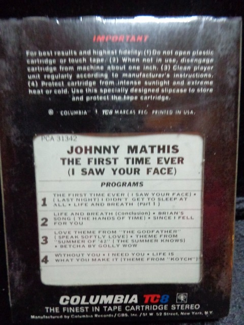 Johnny Mathis - PCA 31342 back