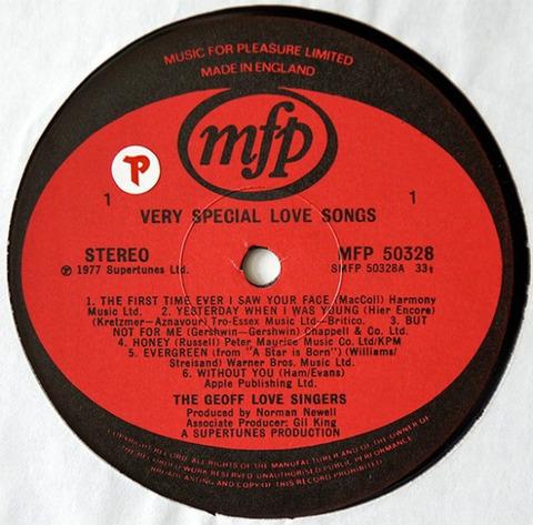 The Geoff Love Singers - Very Special Love Songs (LP1977) r
