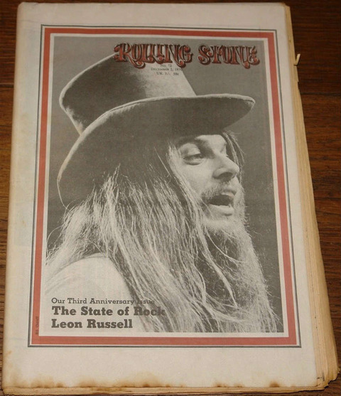 Rolling Stone #72 December 2, 1970 cover