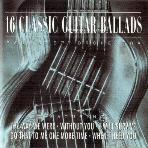 Paul Brett Orchestra - 16 Classic Guitar Ballads CD