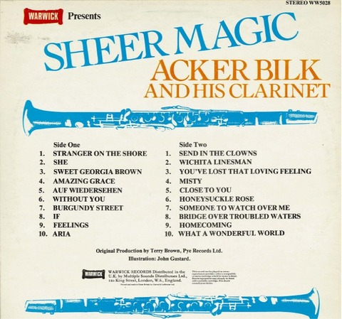 Acker Bilk - WW 5028 back