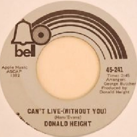 Donald Height - Can't Live-(Without You) (1972)