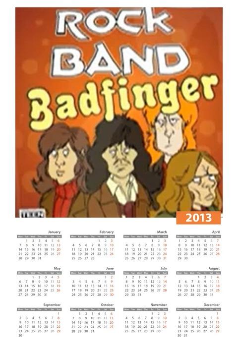 Calendar2013Badfinger