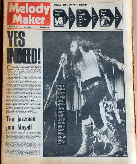 Melody Maker (March 11, 1972) cover