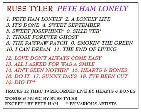 Russ Tyler - Pete Ham Lonely (2012) b