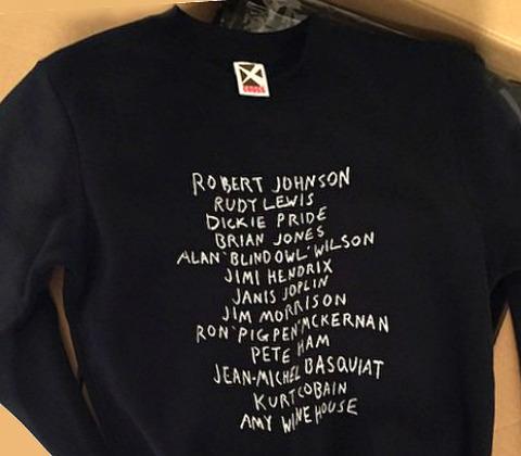 Limited 27 sweatshirt for Fukuoka exhibition