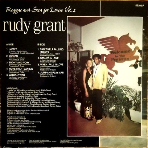 Rudy Grant Reggae and Soca for Lovers Vol 2 b