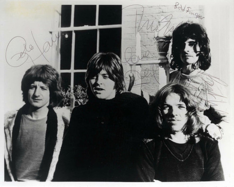 Badfinger 1974 signed by the band members