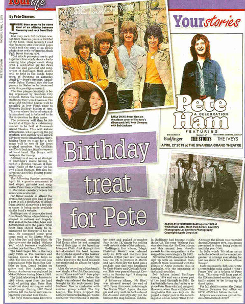 Bob Jackson's tribute to Badfinger's Peter Ham 2