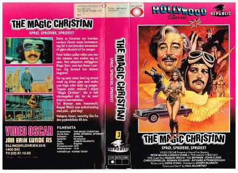 Sprø Sprøere Sprøest The Magic Christian VHS Norway