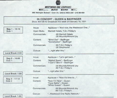 In Concert - Queen & Badfinger q