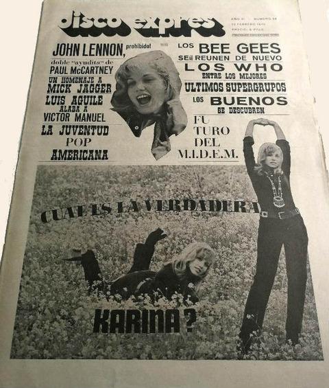 Disco Expres #58 (Feb 15, 1970) cover