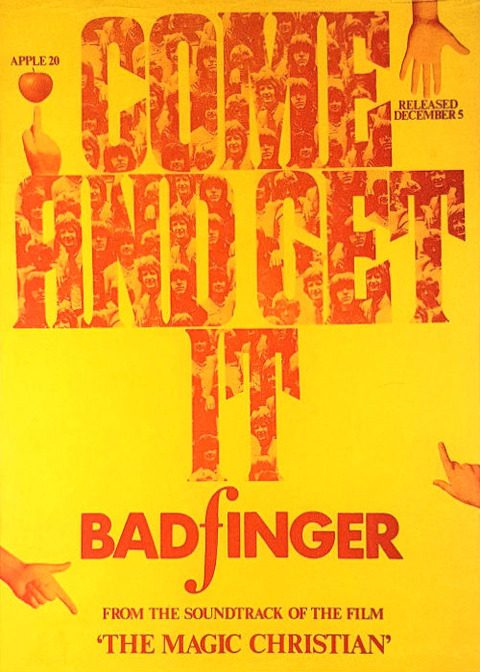 Badfinger Come and Get It UK Promotional Poster