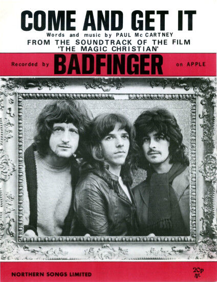 Sheet Music badfinger-come-and-get-it-uk