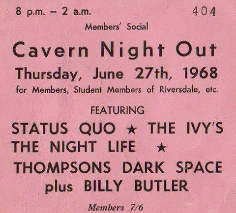 The Iveys at the Cavern (June 27, 1968)
