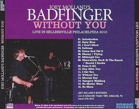 Joey molland's Badfinger bootleg back