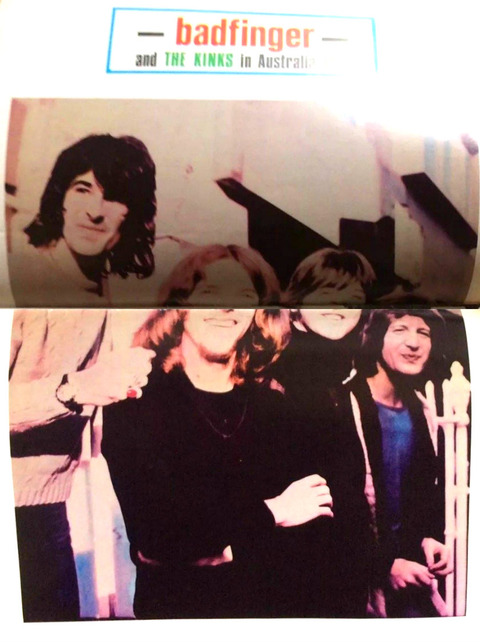 Kinks & Badfinger 1971 Australian tour concert program 02 + 11
