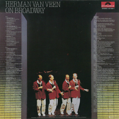 Herman van Veen - On Broadway 1983 back