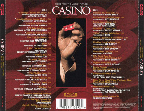 Casino (Music from the Motion Picture) US CD back