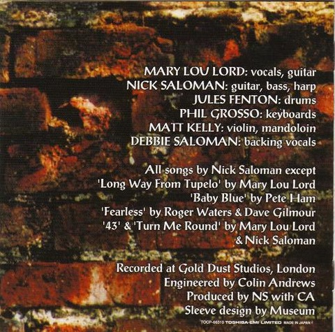 Mary Lou Lord - Baby Blue (2004) back