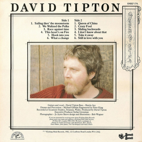 David Tipton - Queen Of China (1982) back