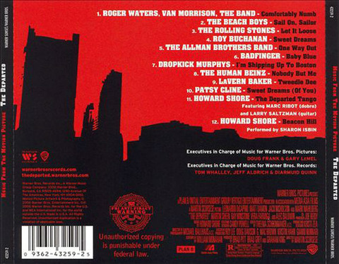 The Departed CD  back