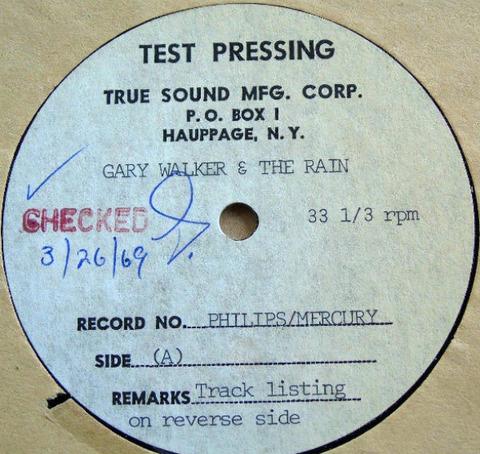 Gary Walker & The Rain 12'' Acetate a